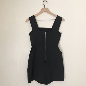 English Factory Pants - English Factory Cut-Out Shorts Romper Black Small